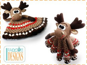 crochet moose lovey