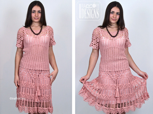 Lace Skirt with Twisted Belt