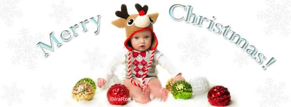 Santa's Reindeer Christmas Hat Crochet Pattern by Irarott