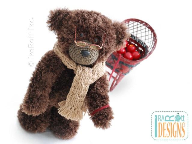 Elvis Balthazar the Third Teddy Bear Crochet Pattern by IraRott