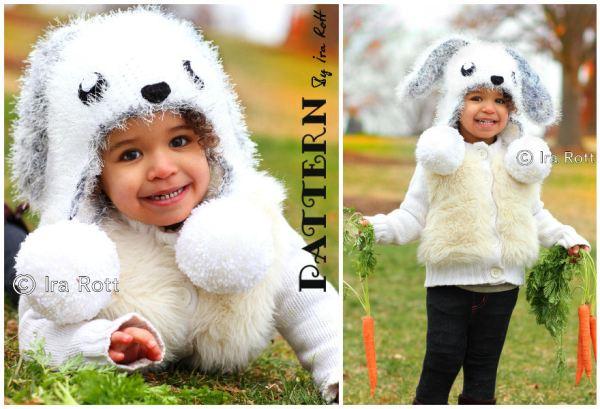 Anna May the Anime Bunny Rabbit Hat Crochet Pattern