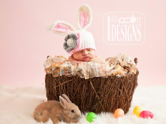 Easter Bunny Rabbit Animal Hat Crochet Hat Pattern by IraRott