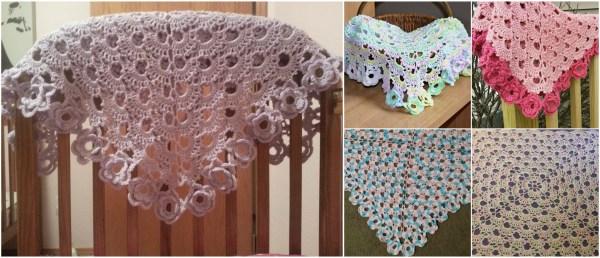 Floral Baby Blanket Crochet Pattern by IraRott
