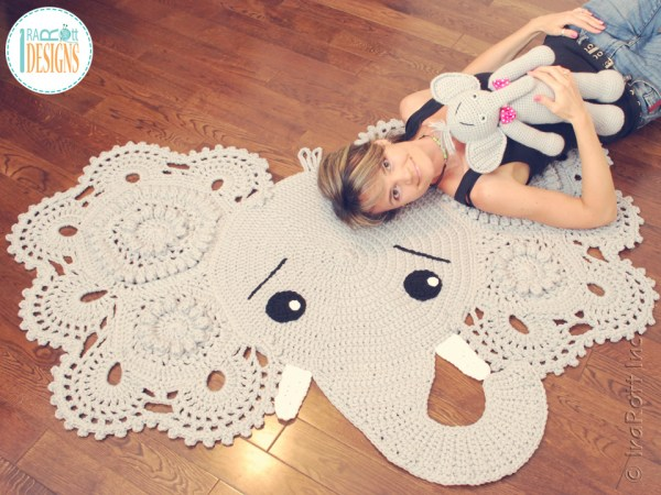 Elephant Rug Pattern by IraRott