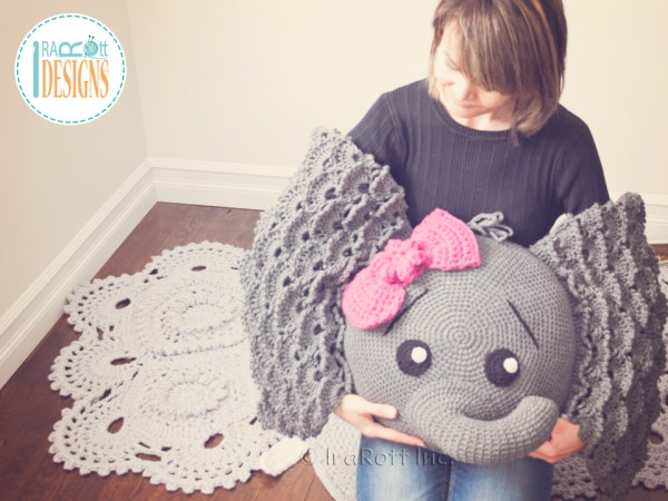 Josefina and Jeffery Elephant Pillow Pattern by IraRott