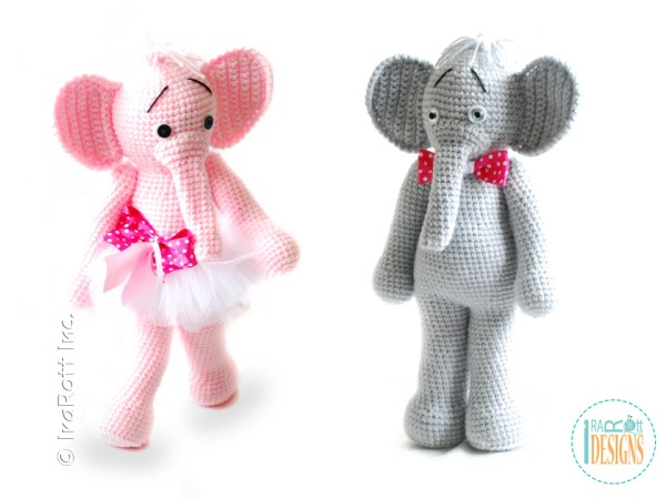 Elephant crochet amigurumi toy pattern by IraRott