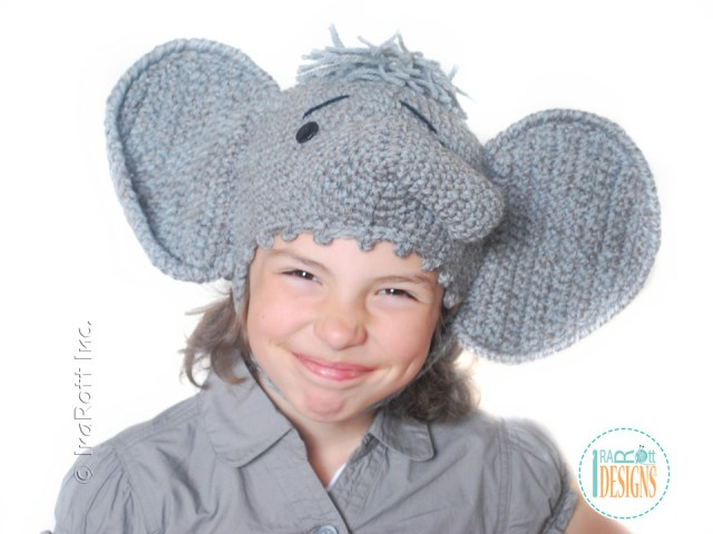 Elephant hat crochet pattern by irarott