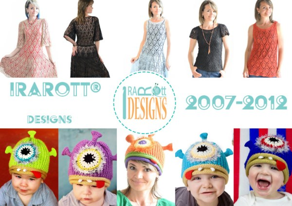 2016 knit and crochet pattern designs by IraRott