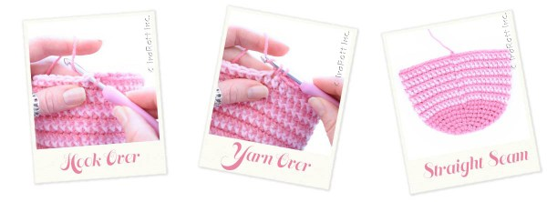 Self-compensated Single Crochet with Straight Seam