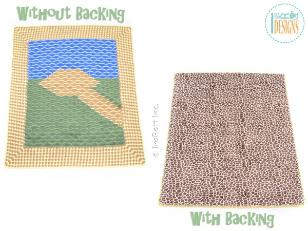 Crochet Quilt Top – Machine Tacking Tutorial by IraRott - How To Add Backing To Your Crochet Blanket