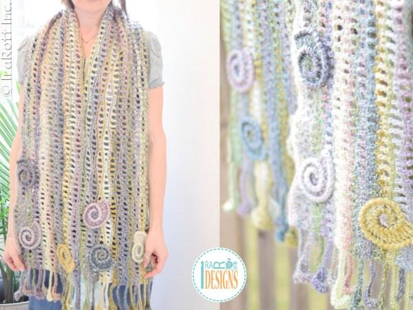 Free Crochet Wavy Scarf Pattern by IraRott