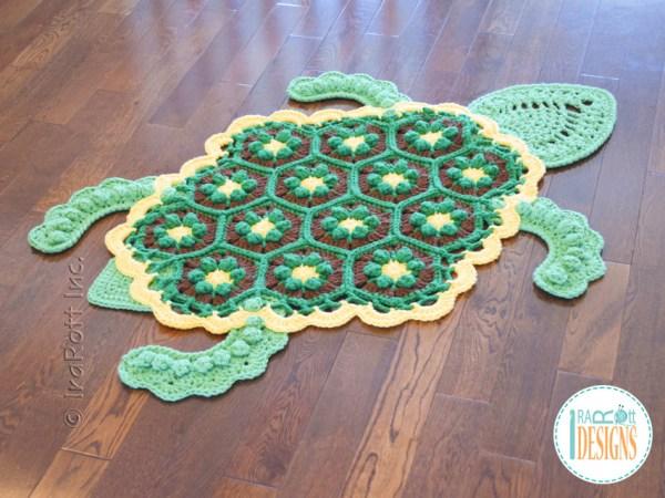 Crochet Turtle Rug Pattern by IraRott