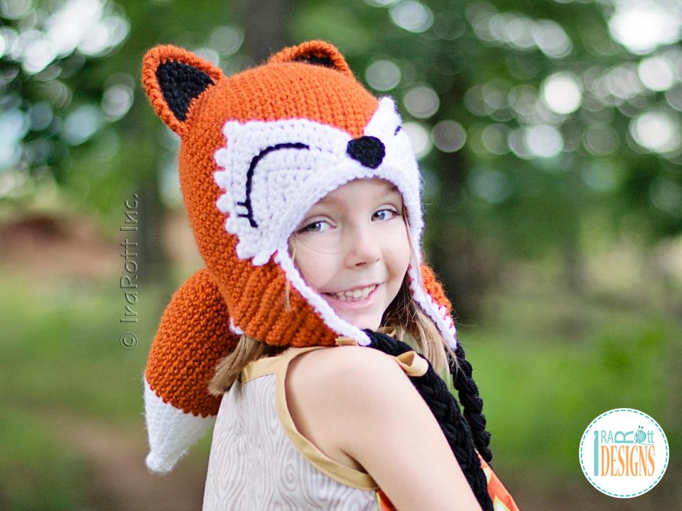 Roxy the Forest Fox Hat Crochet Pattern by IraRott