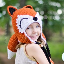 Roxy the Forest Fox Hat Crochet Pattern by IraRott