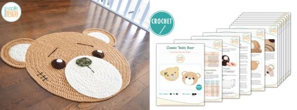 Classic Teddy Bear Crochet Rug Pattern by IraRott
