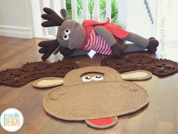 Moose Rug and Big Stuffed Animal Crochet Pattern by IraRott