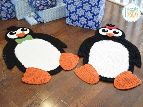 Floppy The Penguin Rug PDF Crochet Pattern By IraRott
