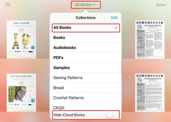 iBooks Files Recovery - Missing PDF Patterns