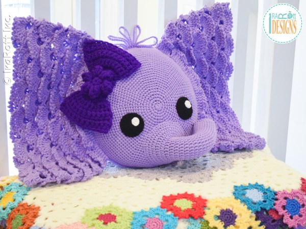 Josefina The Elephant Crochet Pillow Pattern By IraRott