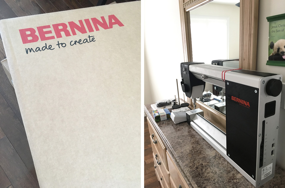 Bernina Q20 Unpacking