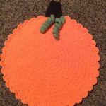 Crochet Pumpkin Rug