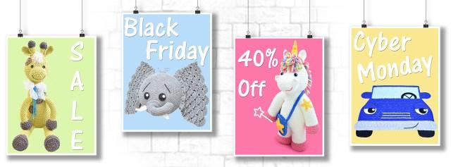 Black Friday Cyber Monday Crochet Pattern Sale By IraRott