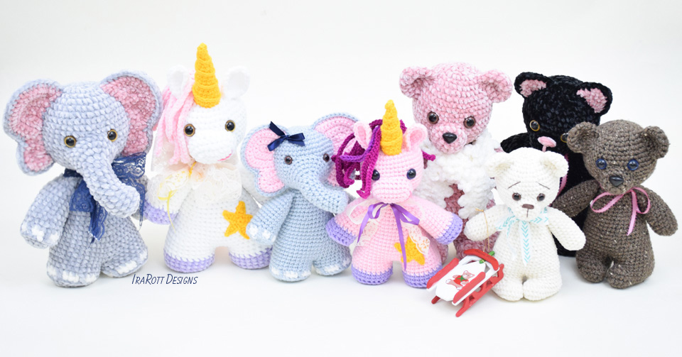 Chubby Little Animals Crochet Collection by IraRott