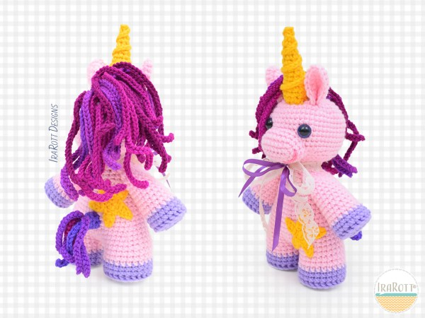 Sophia the Chubby Little Unicorn Crochet Pattern By IraRott