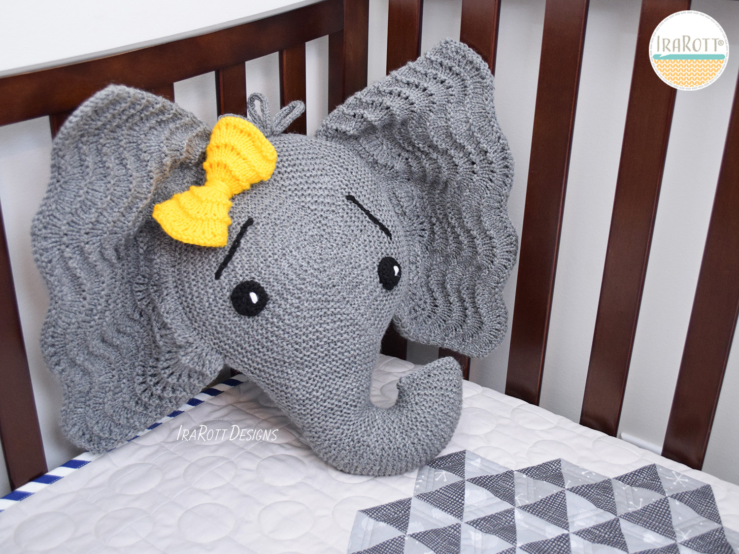 KNIT Pattern Testing Call -Josefina and Jeffery Elephant Pillow
