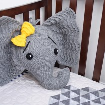 Knit Elephant Pillow Pattern by IraRott
