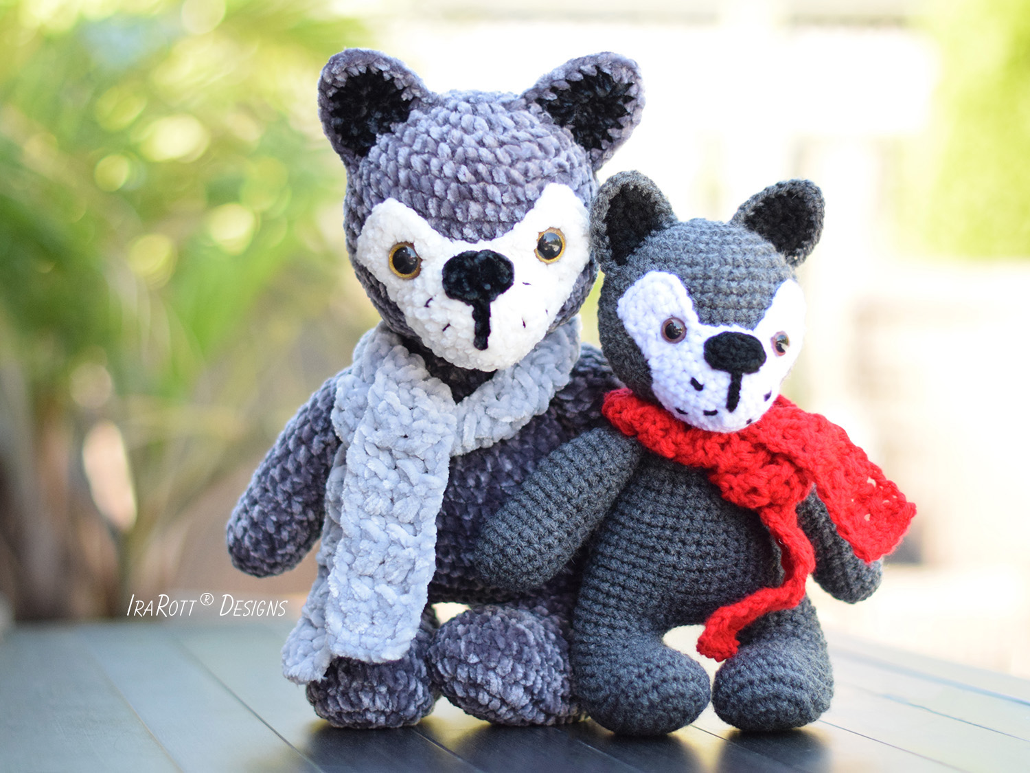 Raff and Rolf The Chubby Little Wolves Crochet Pattern by IraRott