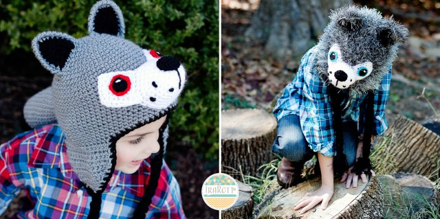 Raff and Rolf The Wolves Crochet Hat Pattern by IraRott