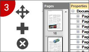 Add, delete, merge, & straighten pages from PDF files