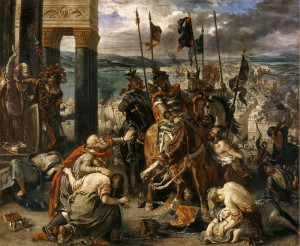 The Entry of the Crusaders in Constantinople, by Eugène Delacroix.