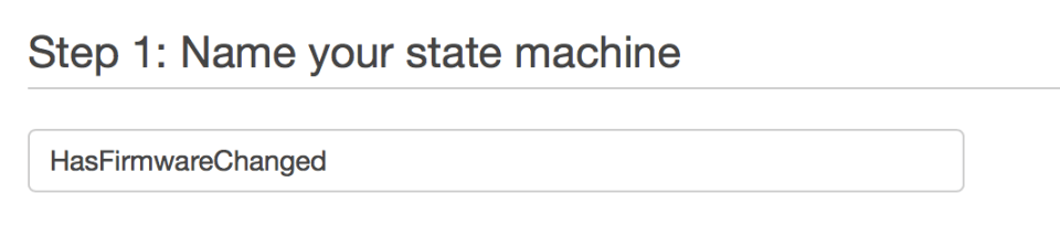 State Machine Name Definition