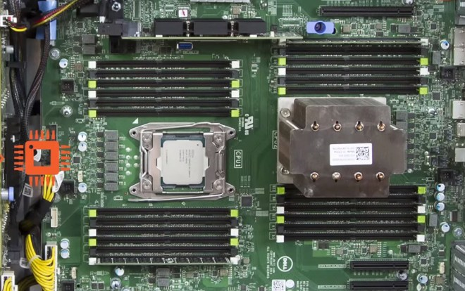 image of T630 motherboard cpu sockets