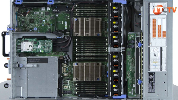 Dell EMC PowerEdge R740 Rack Server Top View