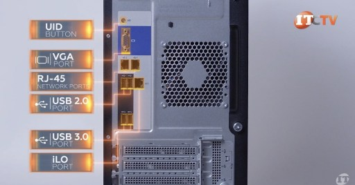 HPE ProLiant ML110 Gen 10 Server Rear Ports