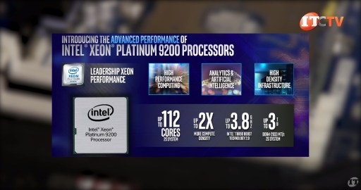 Intel Xeon Platinum 9200 Processors