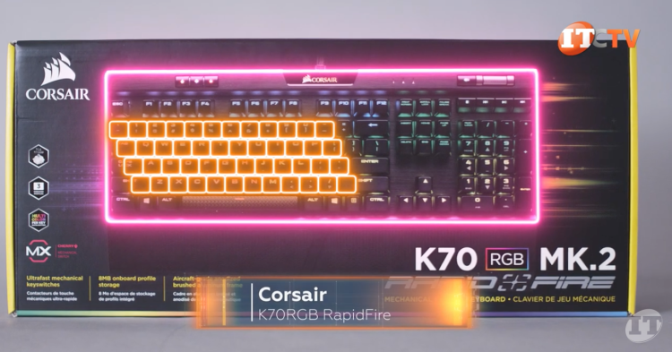 Corsair Rapid-fire keyboard in the retail box