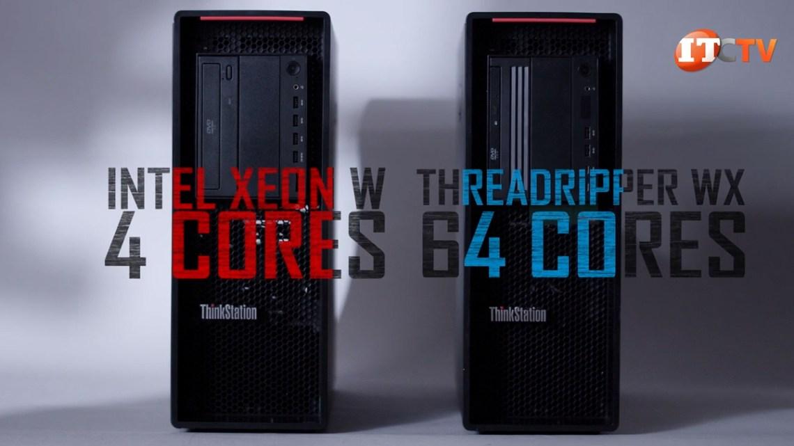 Lenovo P520 featuring 4 cores versus Lenovo P620 featuring 64 cores
