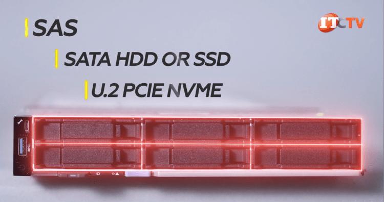 Dell PowerEdge MX740c compatible with SAS, SATA, NVMe