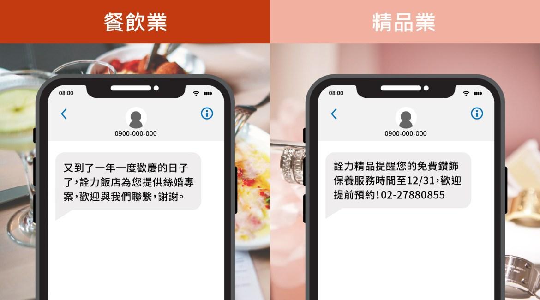 餐飲業、精品業簡訊範例