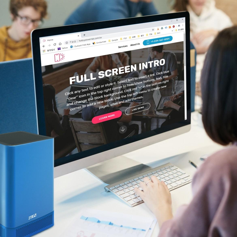 用ITE2 NAS,免學程式輕鬆架設質感網站