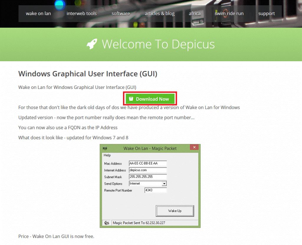 Wake on LAN application on Linux NAS - ITE2 NAS 2 0 Blog