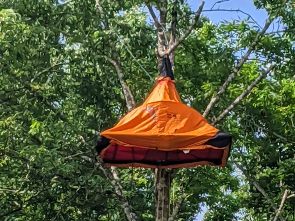 樹上キャンプに使用したポーターレッジ:開拓生活研究所ブログ