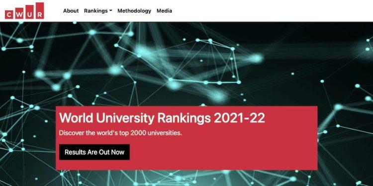 CWUR排名2022