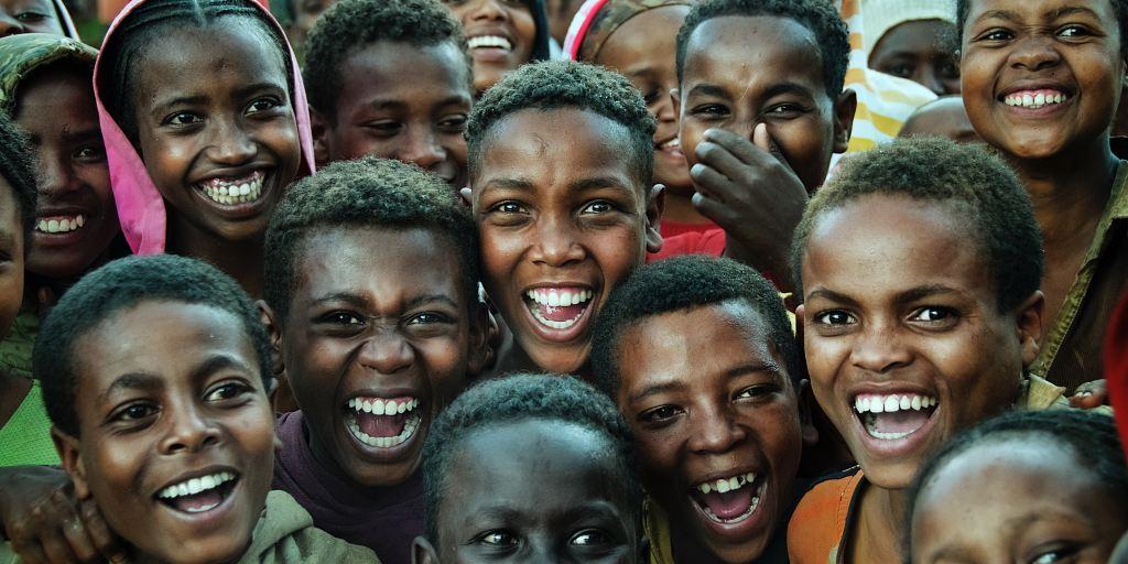 Enfants en joie