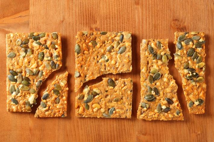 recipe for healthy crackers millet crackers recipe pumpkin seeds health benefit