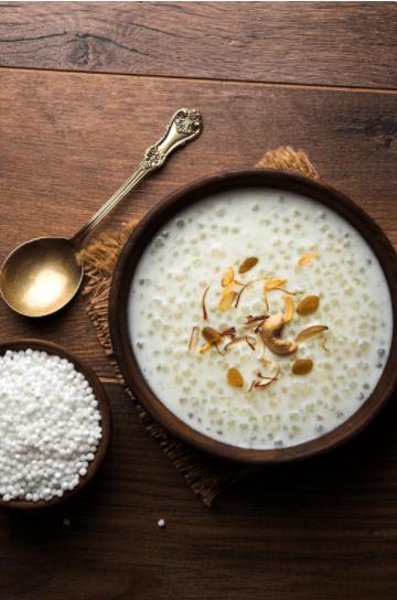 Sabudana or tapioca with milk for babies and moms